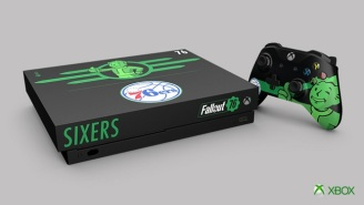 The 76ers Partnered With Xbox And 'Fallout 76' To Make A Custom Pip Boy Console