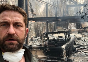 Gerard Butler Posted A Picture Showing His Home Was Burned In The California Fires