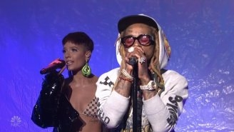 Lil Wayne Brought Halsey Along For A Passionate 'SNL' Performance Of 'Can't Break Me'