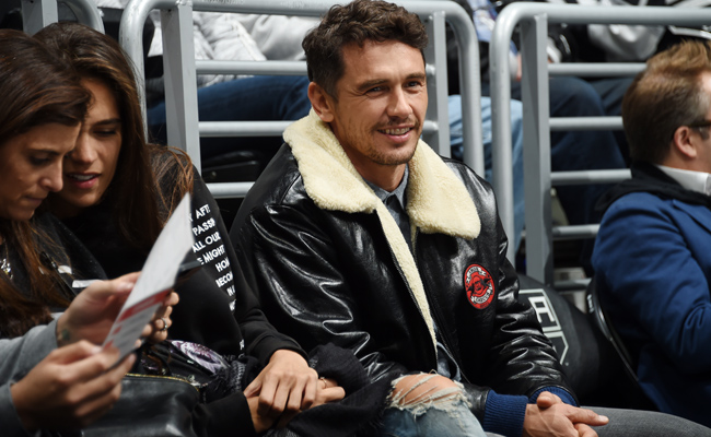 James Franco in his Gucci Chateau Marmont jacket