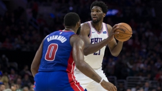 Joel Embiid Dominated The Pistons' Frontcourt Then Proudly Said He 'Kicked Both Of Their Asses'