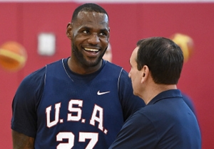 LeBron James Wants Mike Krzyzewski To Still Be At Duke When Bronny Is Looking At Colleges