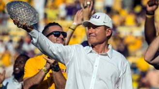Former LSU Coach Les Miles Is Reportedly Finalizing A Deal With Kansas