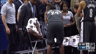 Caris LeVert Was Stretchered Off The Floor After A Gruesome Leg Injury In Nets-Wolves