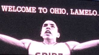 A LaMelo Ball Billboard In Cleveland Looks Way Too Much Like The Old LeBron Banner