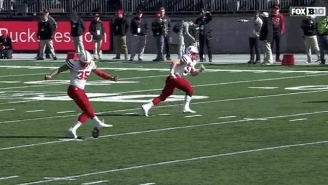 Nebraska Whiffed On A Kickoff Against Ohio State For The Most Hilarious Penalty Of The Season
