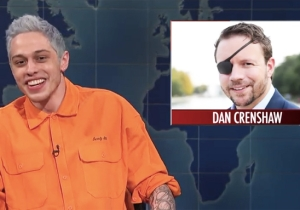 People Were Outraged Over Pete Davidson Making Fun Of A GOP Candidate Who Lost An Eye In Combat