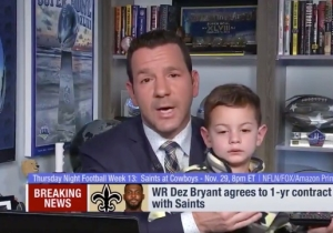 NFL Insider Ian Rapoport's Report On Dez Bryant Joining The Saints Was Hilariously Interrupted By His Son