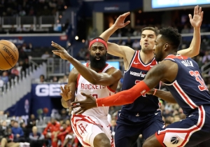 The Wizards Beat The Rockets In OT Despite 54 Points From James Harden
