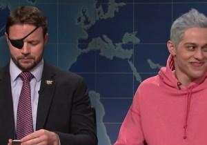 Pete Davidson's 'SNL' Apology To GOP Congressman Dan Crenshaw Was Interrupted By An Ariana Grande Song