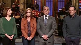 Steve Carell's 'SNL' Monologue Reveals Pam's Final Words To Michael Scott On 'The Office'