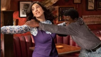 Check Out This Behind The Scenes Footage From The Bar Fight On 'The Good Place'