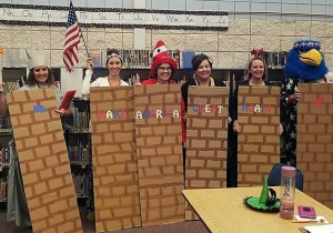 Idaho Schoolteachers Are Under Fire For Dressing As Trump's Border Wall For Halloween