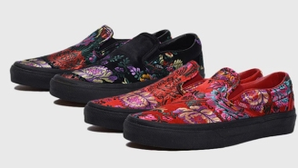 Vans Is Getting Fancy With New Embroidered, Floral, Satin Slip-Ons