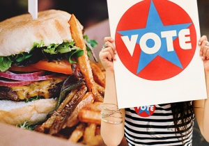 UPDATED — All The Free Food You Can Get Just For Voting Today