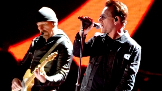 U2's Bono And The Edge Busked On The Streets Of Dublin On Christmas Eve To Raise Money For Charity