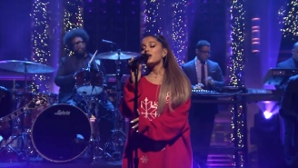 Ariana Grande Performs 'Imagine' And Helps Revive A Classic 'SNL' Sketch On 'The Tonight Show'