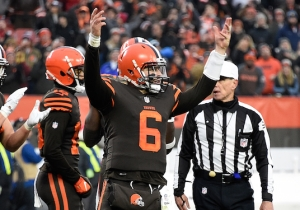 Baker Mayfield Stared Down Hue Jackson After The Game-Clinching Pass Against The Bengals