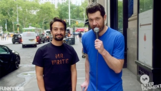 Lin-Manuel Miranda Joins 'Billy On The Street' To Spread Their Irrepressible Cheer