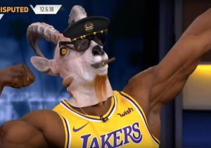 Shannon Sharpe Celebrated Another Big Game From LeBron By Breaking Out The Goat Mask