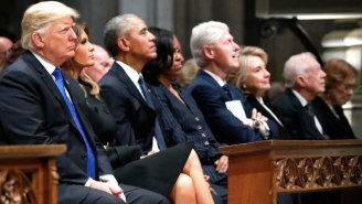 Donald Trump Sitting Near The Obamas And Clintons At George H.W. Bush's Funeral Was Extremely Awkward