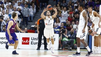 Real Madrid Guard Facundo Campazzo Drilled A Full Court Shot Against Barcelona
