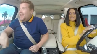 Cardi B Unsuccessfully Tries To Parallel Park In A 'Carpool Karaoke' Preview
