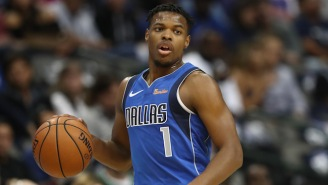 Dennis Smith Jr. Had His Front Tooth Knocked Out By Patrick Beverley