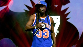 Flavor Flav Was At The G-League Showcase To Support His Cousin Shep Garner