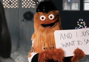 Gritty Has A Special Christmas Message For Katie Nolan In This 'Love Actually' Spoof