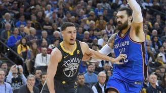 Klay Thompson Wants Steven Adams If He's Stuck On An Island 'Because He Looks Likes Aquaman'