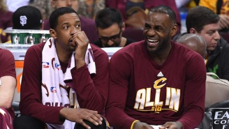 LeBron Couldn't Stop Laughing At Channing Frye's Pass To The Bench