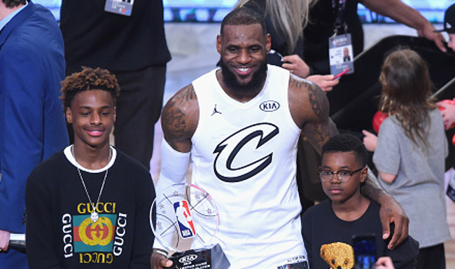 best service af6df df9f7 LeBron James Is Thrilled His Sons Are Wearing His Jersey Numbers