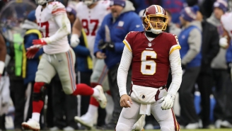 There Was A Mass Exodus Of Redskins Fans From FedEx Field As The Giants Led 34-0 At The Half