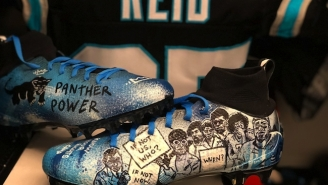Eric Reid's Cleats Pay Tribute To The History Of Protest And Feature Colin Kaepernick