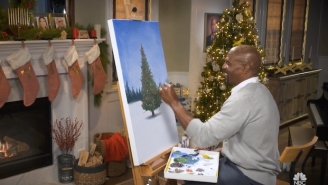 You Can Now Watch Terry Crews Make Christmas Paintings For 24 Hours Straight