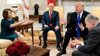Watch Trump, Nancy Pelosi, And Charles Schumer Argue Heatedly During A Televised Oval Office Meeting That Turned Into An Utter Sh*tshow