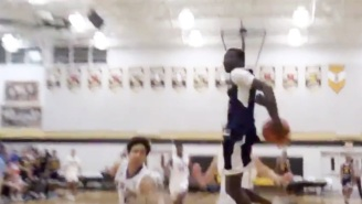 A High School Basketball Player Threw Down A Behind-The-Back Dunk During A Game