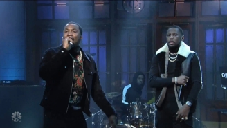Meek Mill Performed A 'Championships' Medley On 'SNL' Alongside Fabolous And A Live Band