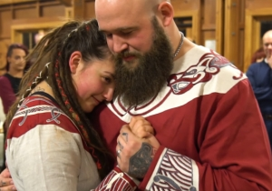 WWE Released A Lovely Video Of Sarah Logan And Ray Rowe's Viking Wedding