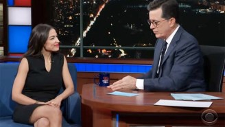 Alexandria Ocasio-Cortez Tells Stephen Colbert How Many F*cks She Gives 'On A Scale Of Zero To Some'