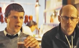 Jesse Eisenberg And A Balding Alexander Skarsgård Clash With Salma Hayek In 'The Hummingbird Project' Trailer