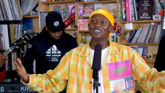 Buddy Lit Up A Blunt Halfway Through His Tiny Desk Show And Delivered A Soulful Performance