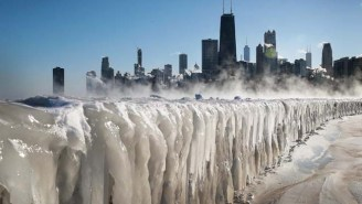 A Completely Frozen Chicago Looks Like Something Straight Out Of 'Game Of Thrones' Right Now