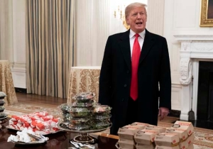 President Donald Trump Bizarrely Brag-Tweeted About Paying For 'Hamberders' For The Clemson Football Team