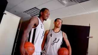 The Spurs Paid Tribute To Kawhi Leonard And Danny Green With A Pre-Game Video