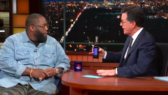 Killer Mike Shares A Bottle Of Crip Cola With Stephen Colbert To Explain His Controversial Netflix Show