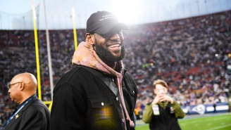 Former Cowboys Fan LeBron James Popped Into The Rams Locker Room After They Beat Dallas