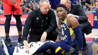 Victor Oladipo Was Stretchered Off The Floor With A 'Serious' Right Knee Injury