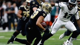 The Eagles' Magical Run Ended On A Saints Interception Off A Dropped Pass